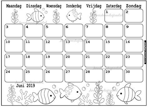Kleurplaat Juni by Juni 2019 Kalender Thema Kleurplaat Kleurplaat Kalender