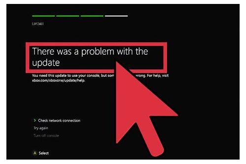 não é possivel baixar o update xbox live