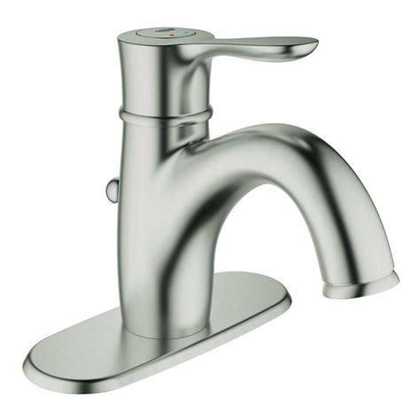 Brushed Nickel Bathroom Faucets Single by Grohe Parkfield Single Single Handle Bathroom Faucet