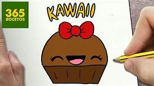 COMO DIBUJAR CUPCAKE KAWAII PASO A PASO Dibujos kawaii faciles How to draw a CUPCAKE YouTube