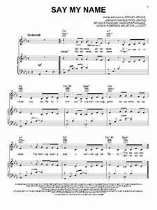 Destiny's Child: Say My Name - Piano, Vocal & Guitar ...