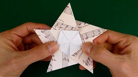 folding   pointed origami star youtube