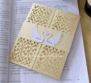 Aliexpresscom buy swan invitations wedding card for Best wedding invitations design 2015