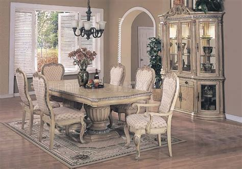 Antique White Dining Room Table by Antique White Finish Contemporary Dining Set