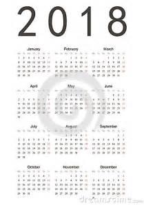 Year Calendar 2018 with Holidays