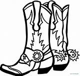 Coloring Boots Pages Cowgirl Cowboy Drawing Boot Printable Clipartmag Site sketch template