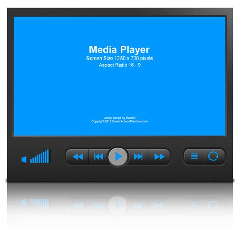 media player device mock  cover action set cover