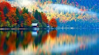 Fall Lake Colorful Wallpapers Colors Desktop Nature