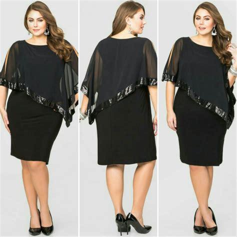 jual dress hitam gaun pesta black jumbo big size