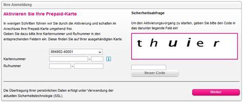 Prepaid Karte Telekom