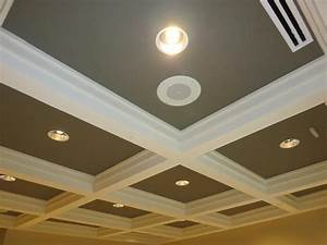 drywall ceiling with soffit edge