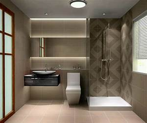 Small modern bathroom design 2017 grasscloth wallpaper for Modern style bathroom