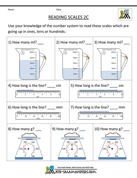 simple measurement worksheets for grade 2 2nd grade measurement worksheets