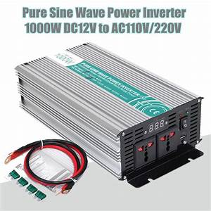 1000w  3000w  5000w  6000w Peak 12v Dc To 110v Ac Solar Power