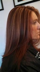 Red copper color with caramel highlights | Hair ...