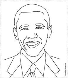 Barack Obama Printable Coloring Pages barack obama coloring pages