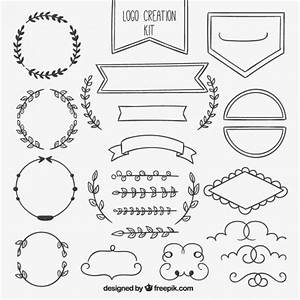 Hand drawn ornamental element collection Vector Free Download