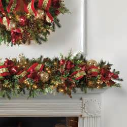 christmas joy decorated pre lit garland frontgate christmas decor traditional holiday decorations
