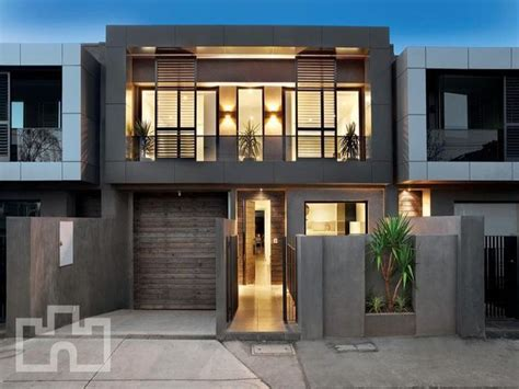 exterior facade design photo of a brick house exterior from real australian home house facade photo 308352 modern