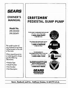 Craftsman Sump Pump Manual L0407609