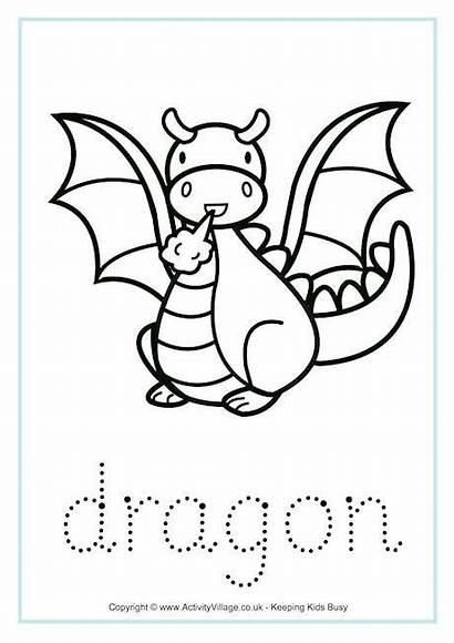 Dragon Tracing Worksheets Chinese Dragons Colouring Pages