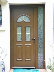Porte D Entrée D Appartement : porte d 39 entr e pvc marron ~ Melissatoandfro.com Idées de Décoration