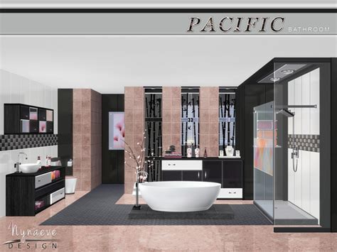 pacific heights bathroom  nynaevedesign  tsr sims