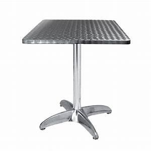 Table Pour Terrasse : table terrasse alu inox 60x60 cm tra 42c60 one mobilier ~ Teatrodelosmanantiales.com Idées de Décoration