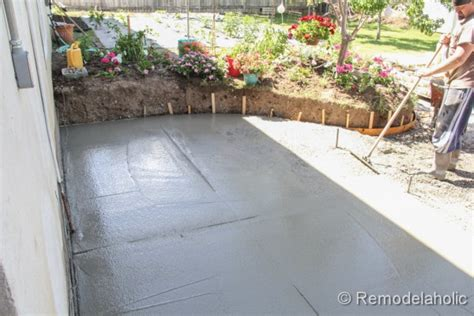 diy concrete patio part two construction home