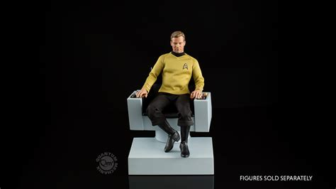 trek captains chair size trek the original series 1 6 scale captain s chair