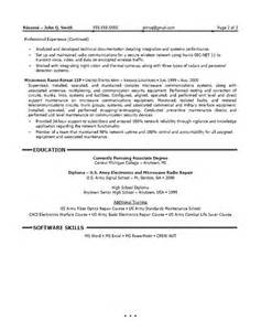 100 best field technician resume exle custom custom