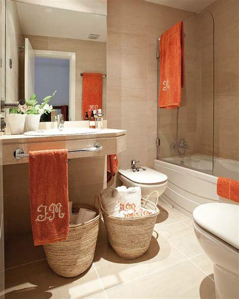 Coral Color Bathroom Decor by Stylish Attic Interior Design In Madrid House Ideas
