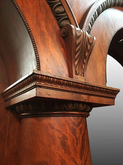 mahogany triple arch  bar wooden nickel antiques