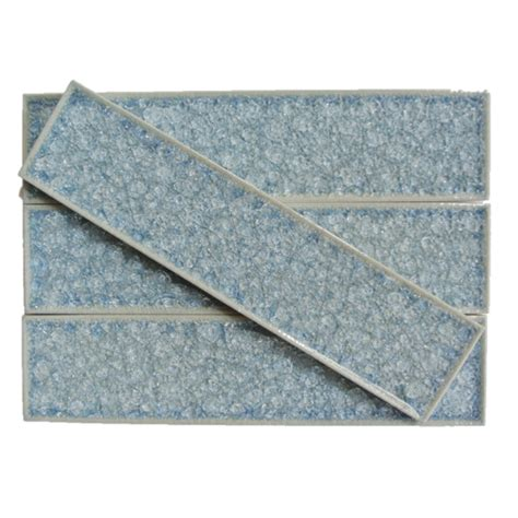 collection brisk blue 2x8 glass tile