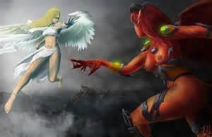 Warrior Angels Fighting Demons