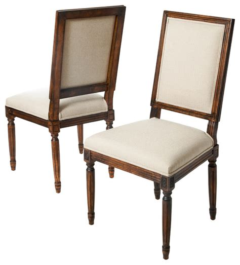 martin wood frame khaki fabric dining chairs set of