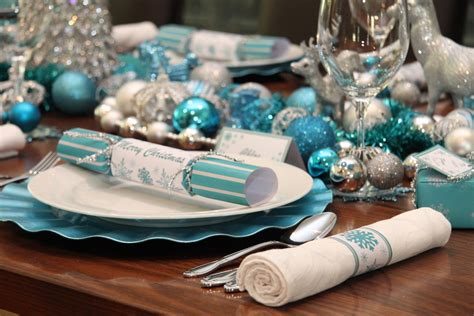 christmas table chic blue  silver design chic party