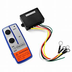 12v Electric Winch Wireless Remote Control Cordless For