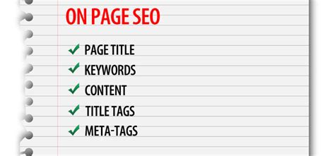 on page optimization in seo 10 tips and tricks for effective seo on page