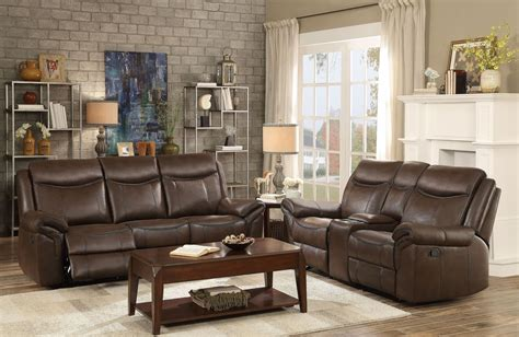 Aram Dark Brown Double Reclining Living Room Set From Benches For Dining Room Tables Computer In Living Modern Ideas Cream Leather Chairs Cupboard Shades Of Paint Pink Furniture How To Upholster A Chair