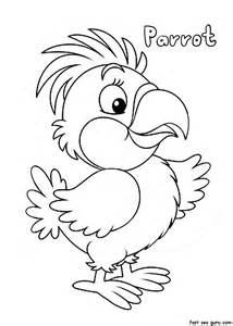 Parrot Coloring Pages Print Out