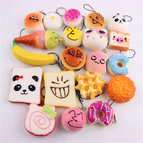 doraemon jumbo 10pcs sale kawaii donuts squishy phone panda