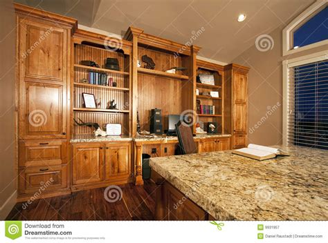 Cabinets For Home Office: Spacious Home Office Cabinets Royalty Free Stock