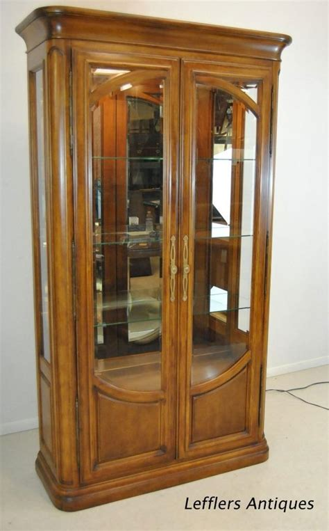 display cabinet with glass doors curio display cabinet with beveled glass doors by