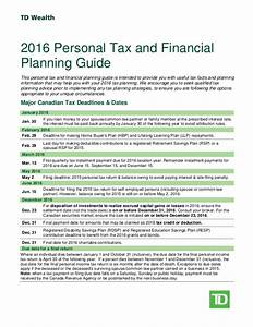 2016 Tax Planning Financial Planning Guide