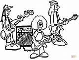 Roll Banda Bandas Proben Rockband Colorare Ensayo Muzyczny Ohbq Jukebox Zespół Supercoloring sketch template