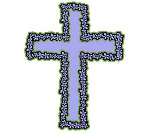 Cross with Flowers Clip Art Free