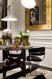 Table D Appoint Salon : salon noir et blanc aux accents de luxe en ocre la casa cor ~ Melissatoandfro.com Idées de Décoration