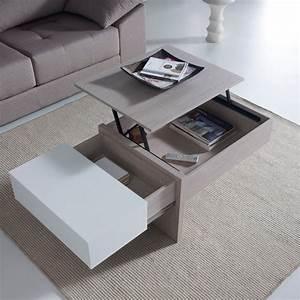 Table Basse Chene Blanchi : table basse chene blanchi ~ Melissatoandfro.com Idées de Décoration