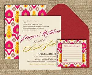 indian wedding invitation the ikat collection a textile With wedding invitation printing queens ny